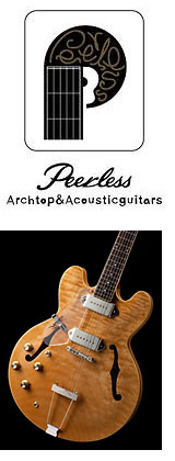 PEERLESS left handed electric guitars / Linkshänder-Modelle bei Lefthand Gear